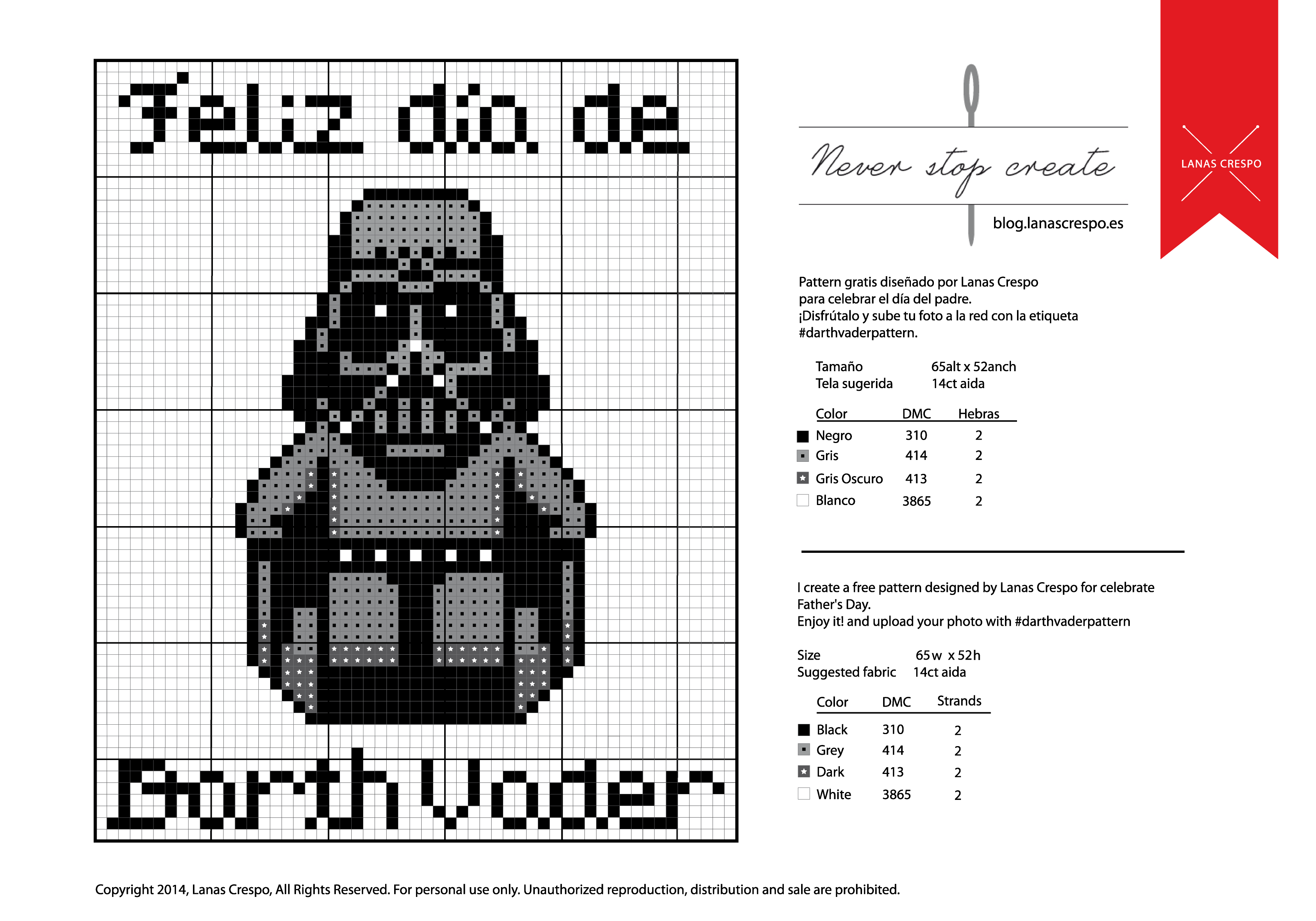 Special Cross Stitch Pattern for Father's Day