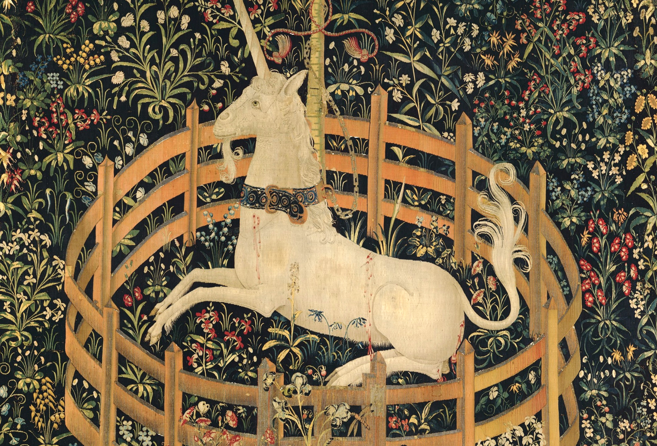 Scotland: Unicorns, castles and tapestries.